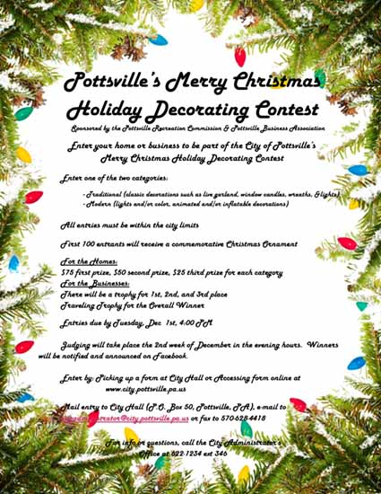 2018 Holiday Decorating Contest Flyer